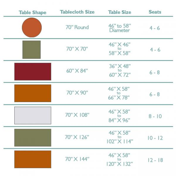 Standard Rectangular Table Size Images Top Do